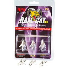 RamCat Single Bevel Broadhead 100 Grain 3 Pack