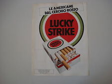 advertising Pubblicità 1982 SIGARETTE CIGARETTES LUCKY STRIKE