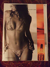 2002 Print Ad Chivas Regal Scotch ~ Sexy Swimsuit Girl ~ Yes, God is a Man