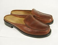 GH Bass & Co Weejuns Brown Leather Slip On Loafers Flats Dress Shoes Sz 9.5