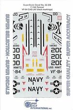 Hard to Find Super Scale F-14A Tomcat VF-84 CAG, Black Marking Decals 1/32 236