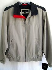 CLAIBORNE..LIGHT BROWN..NYLON & COTTON..LIGHT..MAN'S..JACKET..NEW w TAGS ($119)