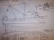 shrimp  TRAWLER boat model plan large