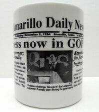 MUG CONGRESS COFFEE CUP TEXAS AMARILLO DAILY NEWS PAPER GOP DRINK HOLDER 1994