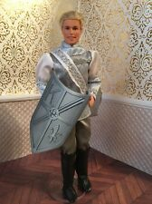 Barbie Prince Outfit Top Pants Boots Swan Princess Doll Shield Silver Blonde