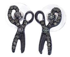 Black Scissors Hair Stylist Designer Stud Earrings Beauty Salon Girl Jewelry e52