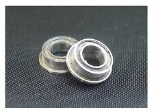 BALL BEARING 4 x 8 FLANGED TEFLON SEALED NEW 2pc 4x8mm