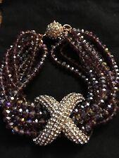 Joan Boyce Pave X Beaded Bracelet Size S/m
