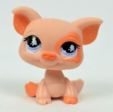Hasbro Littlest Pet Shop LPS Peach Pig #885 Polka Dot Ears Purple Eyes