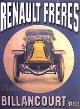 VINTAGE RENAULT FRERES FRENCH ADVERTISING A3 POSTER PRINT