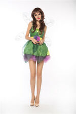 Tinkerbell Pixie Woodland Fairy Women's Adult Halloween Costume Fancy Dress S/M