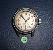 36)⌚ ELGIN 40er Vintage Military Watch WW II WK 2 US Army Parts Case Mouvement