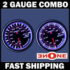 52mm Mookeeh MK1 Tinted 30 psi Boost + 2400 EGT Pyrometer Diesel Gauges