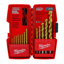 Genuine Milwaukee Thunderbolt® Titanium Coated Drill Bits (14 PC) 48-89-0011