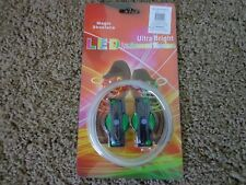 LED luminescent SHOELACES ultra bright NEW IN PACKAGE magic shoelaces