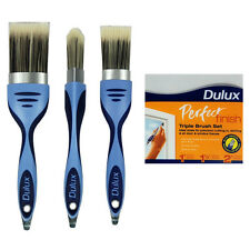 "Dulux Perfect Finish Triple Pack Paint Brush Set - 1"", 1.5"" and 2"" - FREE P&P"