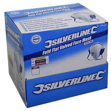 Silverline Confort Respirateur Masque Anti-Poussière 25 Pack FFP2 NR pli plat valved 282404