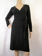 BANANA REPUBLIC Black Long Sleeves Knit Wrap Dress, Size Small