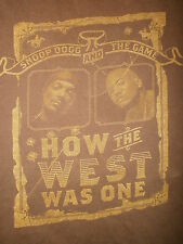 3XL SNOOP DOGG & GAME CONCERT T SHIRT How West Was One Tour Won Two-Sided XXXL