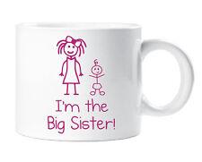 Soy la hermana mayor de los niños Dinky Taza engreído Chicas Copa Nuevo Bebé Hija De Regalo
