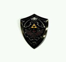 The Legend of Zelda Hyrule Hyrulian shield pin badge brooch blue and silver