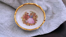 MEISSNER LIMOGES  COASTER IN WHITE WITH A DANCING  COUPLE     FRAGONARD