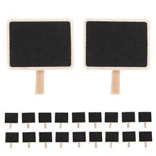 20Pcs Mini Message Note Chalkboard Peg Wedding Lolly Buffet Blackboard Placecard