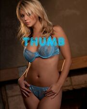 Ashlynn Brooke - 10x8 inch Photograph #058 in Blue Lacy Bra & Pants