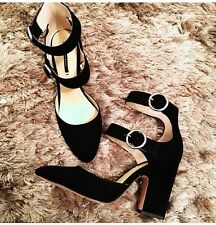 Zara Heels Double Strap Buckle Size 5 Slightly Pointed