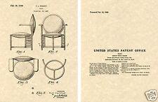 US PATENT Frank Lloyd WRIGHT CHAIR Art Print Ready to Frame!!!!!  Vintage