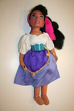 "Rare Disney Authentic Esmeralda Hunchback of Notre-dame Plush Toy Doll 16"" Girls"