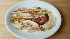 alfred meakin glo-white ironstone oval plate pheasants