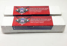 (QTY 2) WHITE ROUGE (LARGE 2 LB) POLISHING BUFFING COMPOUND 10X2X2 MADE IN USA