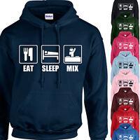 EAT, SLEEP, MIX HOODIE ADULT/KIDS - PERSONALISED - DJ MIXING GIFT XMAS TOP DJING