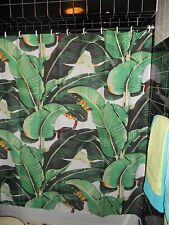 Sample Prototype  Indochine Martinique Palm Shower Curtain 80's NYC Downtown