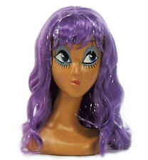 Long Purple Wig With Fringe Katy Perry California Girl Fancy Dress