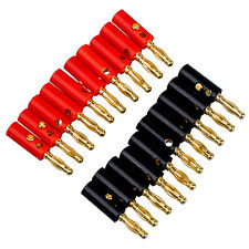 20 Banana Speaker Wire Cable Screw Plugs Connectors 4mm V0K2