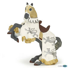 Horse from Richard Lion heart white 11 cm Knight and Castles Papo 39784
