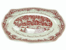 Johnson Bros TWAS THE NIGHT Before Christmas Sandwich Tray NEW IN THE BOX (S)