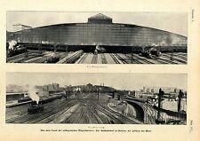 Der Südbahnhof in Bosten (USA)  Größter Bahnhof der Welt c.1904