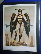 ~~ BROM ~ DOMINATOR LIMITED EDITION PRINT ~ SIGNED! #826/1100 ~ 1991 ~~