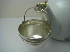 A CONTINENTAL SILVERPLATE SILVER PLATED TEA STRAINER TEAPOT SPOUT STRAINER Italy