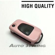 Pink Key Cover Case Mercedes Benz Fob 3 Button Hull Bag Protector Shell Flip 73p