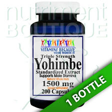 Yohimbe Bark 1500 mg Triple Strength 200 Caps by Vitamins Because your Worth it