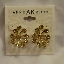 ANNE AK KLEIN CRYSTAL SUNBURST STUD POST EARRINGS NEW $24