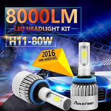 80W 8000LM CREE LED HEADLIGHT BULBS KIT H11 H8 H9 6000K COOL HIGH POWER LOW BEAM