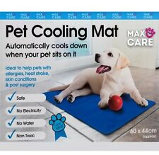 New Dog Cat Pet cooler Cooling Cool Gel Mat Bed Pad 60 x 44cm Blue