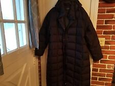 LANDS END WOMENS GOOSE DOWN FULL LENGTH HOODED PARKA LONG PUFFER JACKET COAT