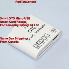 5-in-1 OTG Micro USB Smart Card Reader Connection Kit for Samsung Galaxy S4 / S3