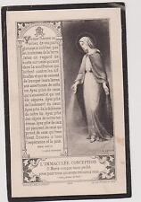 IMAGE FAIRE-PART SOUVENIR DE HELENE PEUTAT à son Amie- IMMACULEE CONCEPTION-